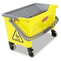 Rubbermaid Microfiber Flat Mop Press Bucket