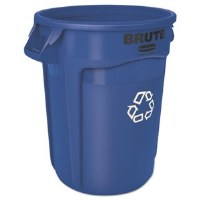 Rubbermaid Brute Container 32gl Blue Recycle