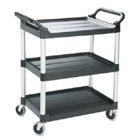Utility Cart Black 3 Shelf RM