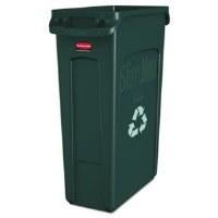 Slim Jim Waste Can Green 23gl