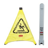 Pop Up Caution Sign w/Holder
