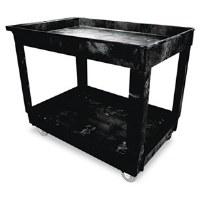 Utility Cart Black 2 Shelf RM