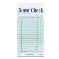 Guest Check Pad Carbon (50)