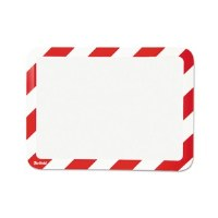Magneto Safety Sign Frame Red/White (2)