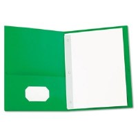 Portfolios w/ Fasteners Green