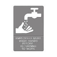 ADA Sign Employee Wash Hands