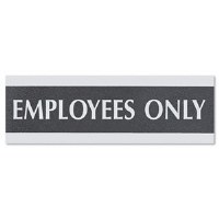 "Sign ""Employees Only"" 9""x3"""