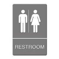 ADA Sign Restroom Women/Men