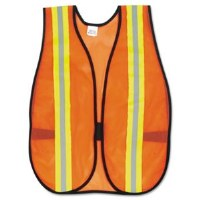 Safety Vest Mesh Org w/Strips