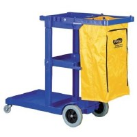 Maids Cart Blue w/Vinyl Bag M2