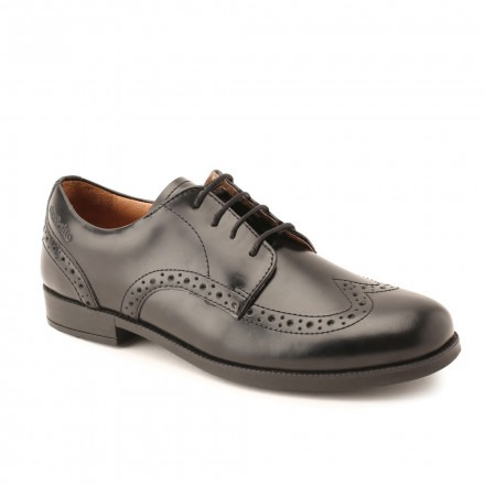 Angry Angels Pinbrogue SNR 35067 Black Leather