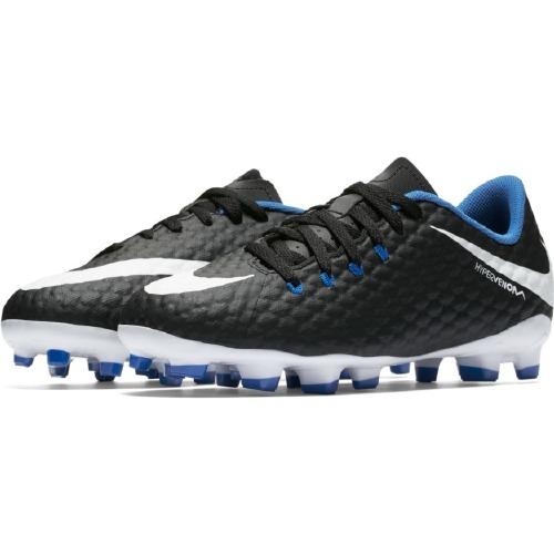 Nike 852595 JR  Hypervenom Black White