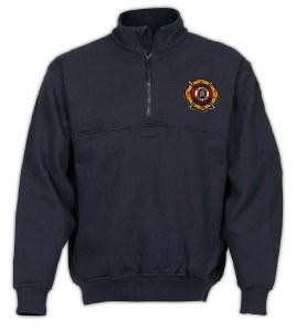 Navy Blue Job Shirt with AFC Maltese Cross