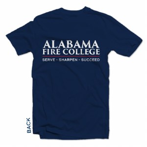 T-shirt Text Red Line Navy S