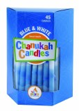 Decorated Blue & White Candles