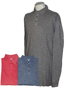 Big & Tall Legend Cotton Long Sleeve Polo