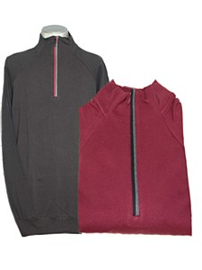 Big & Tall Legend Stretch Half Zip Long Sleeve Sweater