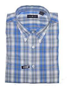 Summerfields Grey/Blue Check Short Sleeve