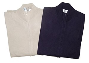 Big & Tall Wool Zip Up Sweater