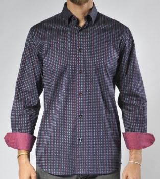 Luchiano Visconti Limited Edition Colour Block Long Sleeve Sport Shirt