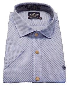 Fellows United Blue Cluster Short Sleeve Sport Shirt