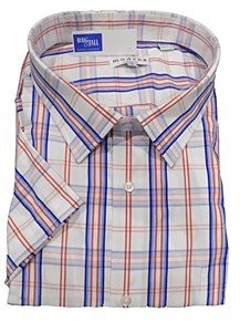 Summerfields Window Pane Short Sleeve Sport Shirt