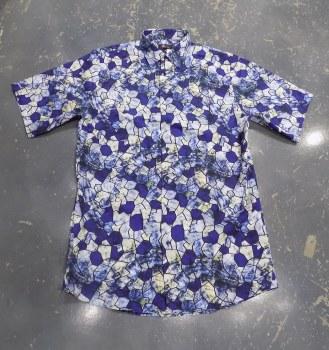Jon Randall Royal Geo Long Sleeve Sport Shirt