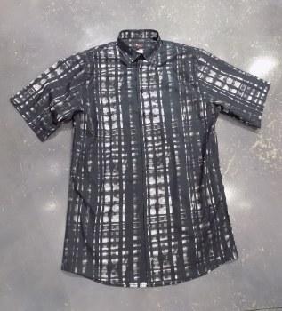 Jon Randall Black Overprint Long Sleeve Sport Shirt