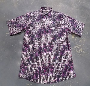 Jon Randall Purple Splash Long Sleeve Sport Shirt
