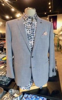 2205 Ink Diagonal-Weave Sport Coat