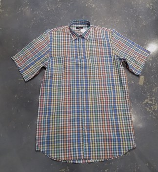 Jon Randall Plaid Long Sleeve Summer Shirt