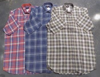 Jon Randall Linen Plaid Long Sleeve Summer Shirt