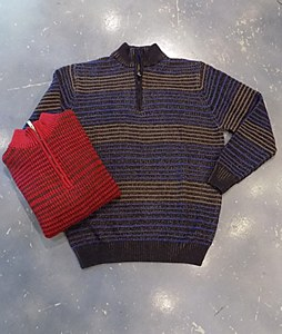 FX Fusion Novelty 1/4 Zip Knit Sweater