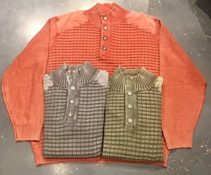 FX Fusion Button Sandwashed Sweater