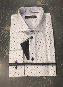 Klauss Boehler Tile Print Long Sleeve Sport Shirt
