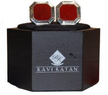Ravi Ratan Genuine Stone Cuff Links