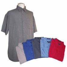 Greystone Short Sleeve Poly-Blend Camp Shirt