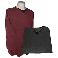 FX Fusion Contrasting Trim V-Neck Sweater