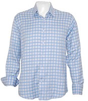 Luchiano Visconti Jacquard Check Long Sleeve Sport Shirt
