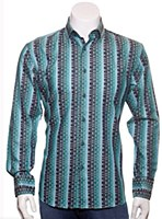 Luchiano Visconti Optic Illusion Long Sleeve Sport Shirt