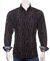 Luchiano Visconti Multi Stripe Long Sleeve Sport Shirt
