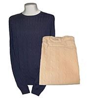 Peter Millar Merino Cable Crewneck Sweater