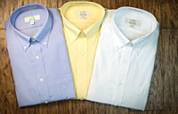Summerfields No-Iron Solid Button Down Long Sleeve Dress Shirt