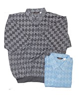 Banded Bottom Shirt Co. Short Sleeve Argyle Check