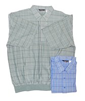 Banded Bottom Shirt Co. Short Sleeve Check
