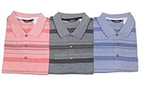 Big & Tall Multi Striped Short Sleeve Polo