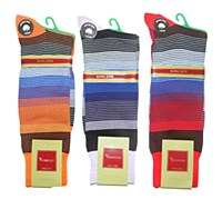 Vannucci King Size Striped Sock