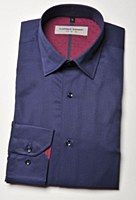 2205 Ink Sheen Stripe Long Sleeve Sport Shirt