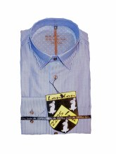 2205 Ink Contrast Stripe Long Sleeve Sport Shirt
