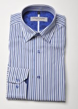 2205 Ink Striped Long Sleeve Sport Shirt